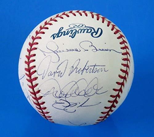 Ny Yankees Team Autographed Baseball - 2010 Ny Yankees Team Autographed Signed Baseball Derek Jeter Rivera A-Rod 18 Sigs Memorabilia JSA Loa