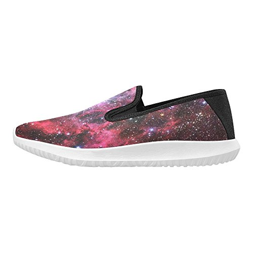 Interestprint Loafer Slip On Zapatos Mujeres Canvas Fashion Sneakers Multi 4