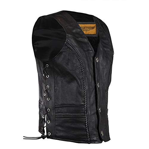 (Men's Leather Vest With Buffalo Nickel Snaps)