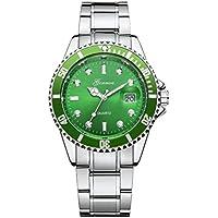 FAPIZI Men's Watch}}Men Fashion Sport Quartz Analog Wrist Watch Military Stainless Steel Date Watch (Green)