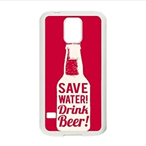 save water !drink beer!funny beer image,interesting beer quotes Samsung Galaxy S5 Plastic And TPU (Laser Technology) Case Cover