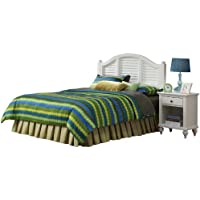 Home Styles Bermuda Headboard and Night Stand, White Finish