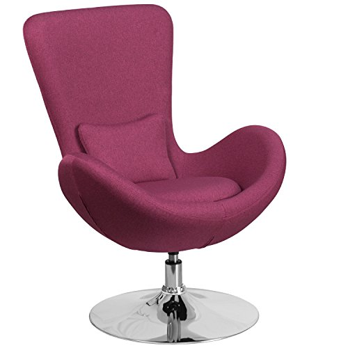 Flash Furniture Egg Series Magenta Fabric Side Reception Chair (Magenta Chair)