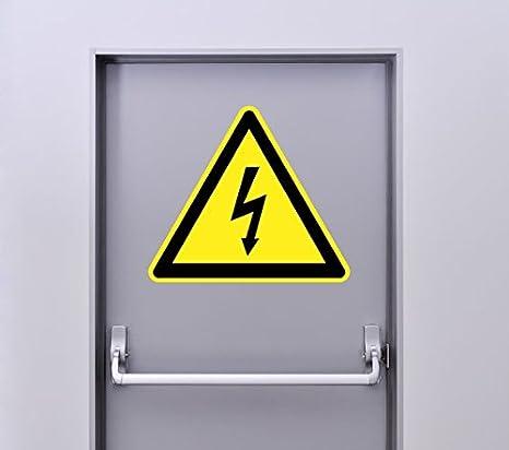 Zone-Stickers Autocollant Signal/étique Panneau Danger Electrique 5cm x 4.3cm
