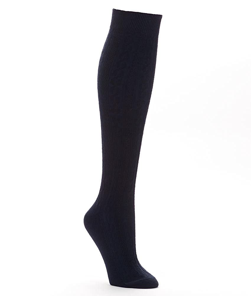 eecc5164b Hue Women's Cable Knee Socks, Black, Medium at Amazon Women's Clothing  store: