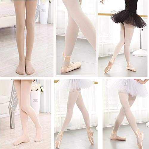 Girls Ballet Tights Dance Stockings Seamless Footed Ballet Pantyhose Teen Girl (Pink) by Baroco (Image #4)