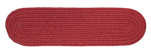 Maui Braided Reverisble Stair Treads Soft Step Cushions/Runners for Stair Case in Colonial Red, 8