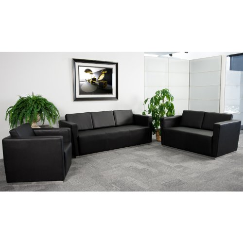 (Flash Furniture HERCULES Trinity Series Reception Set in Black)