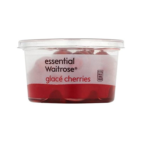 Glace Cherries essential Waitrose 200g - Pack of 2