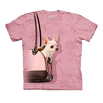 The Mountain Pink Round Neck T-Shirt For Women