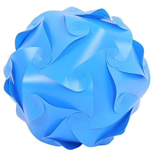 1 Light Parlor Pendant (SODIAL(R) DIY Modern Pendant Ball novel IQ lamp Jigsaw puzzle pendants colorful pendant lights LED DIY adjustable chandelier ceiling lamp(25cm Blue))