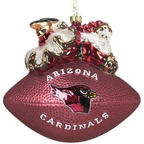 (Arizona Cardinals 5 1/2 Peggy Abrams Glass Football Ornament)