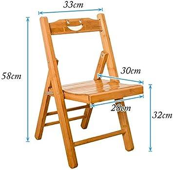 soges Taburete Plegable Silla Plegable de bambú, estudian sillas ...