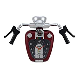 Zeckos Plastic Wall Clocks Super Cruiser Motorcycle Wall Clock W/Sound 17.5 X 14 X 6.25 Inches Red