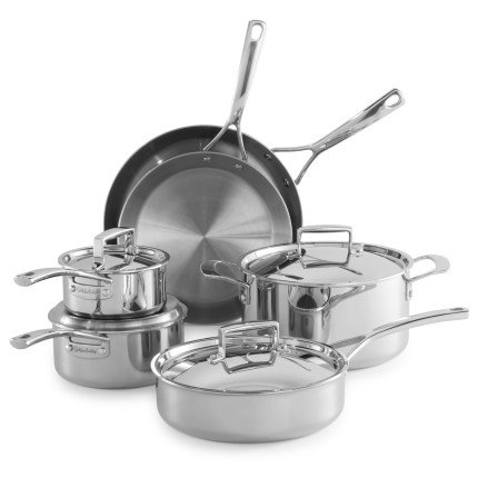 Sur La Table Tri-Ply Stainless Steel 10-Piece Set SLT-0001234