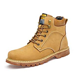 Amazon.com: Men's Winter Martin Boots, New Leather Boots