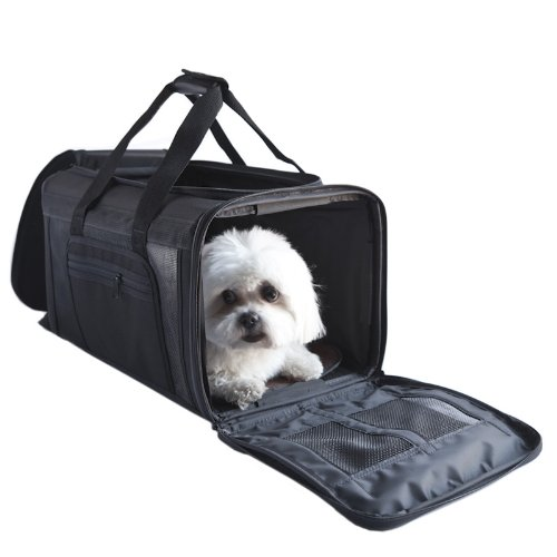 Petote Carle Airline Pet Travel Bag, Black, My Pet Supplies