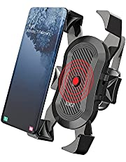BIG+ Bike Phone Mount, Secure Lock & Full Protection Bicycle Holder for Mountain Bike, Motorcycle Handlebar, Compatible with iPhone 11, X/XR/XS MAX, Samsung and Most 4-6.8 inch Smartphones and cell phones