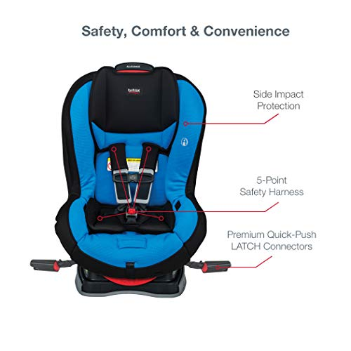41vbKALnrXL - Britax Allegiance 3 Stage Convertible Car Seat | 1 Layer Impact Protection - Rear & Forward Facing - 5 To 65 Pounds, Azul