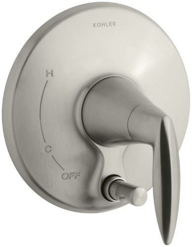 KOHLER K-T45112-4-BN Alteo Valve Trim with Push-Button Diverter, Valve Not Included, Vibrant Brushed Nickel (Rite Temp Trim Tub)