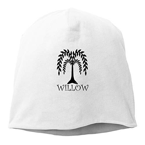 (Xxh Top Level Knit Beanie Hat for Men Women Willow Tree Black Cotton Skull Cap )