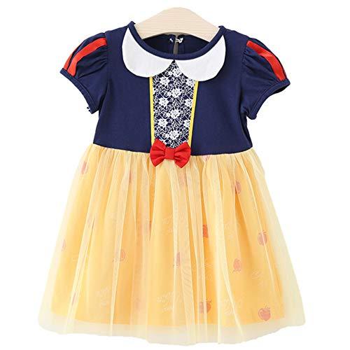 Tsyllyp Little Girls Summer Snow White Princess Dress Holloween Costumes]()