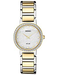 Women's Japanese Quartz Stainless Steel Strap, Silver, 0 Casual Watch (Model: SUP434)