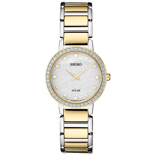 Seiko Women's Japanese Quartz Stainless Steel Strap, Silver, 0 Casual Watch (Model: SUP434)