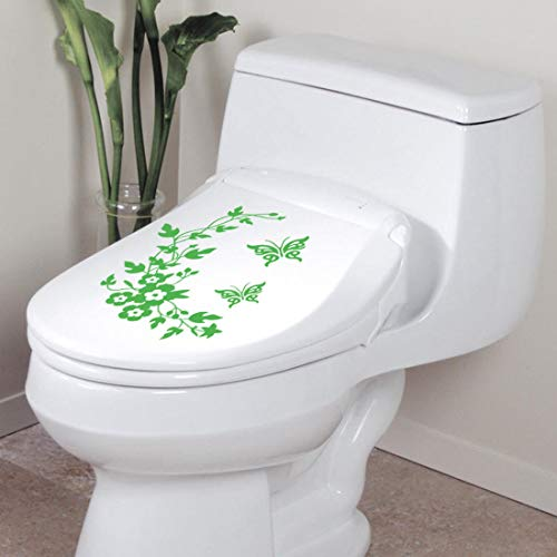 Pansy Vine - Pansy Vine Bathroom Toilet Wall Sticker