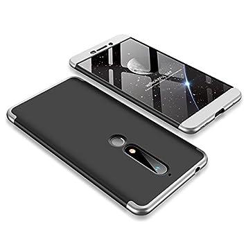 JMGoodstore 360 - Carcasa Ultrafina ya Prueba de Golpes para PC (3 en 1), Silver+Black, Huawei Honor 6X