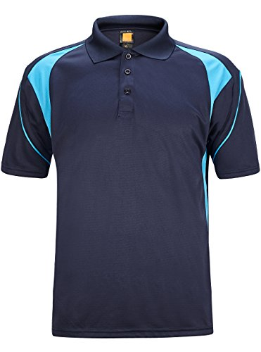 (GEEK LIGHTING Men's Avenger Polo Short Sleeve Sportswear(Dark Blue,L))