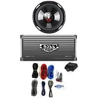 BOSS P106DVC 10 2100W Subwoofer Sub + AR16002 1600W 2-Ch Amp + 8 Gauge Amp Kit