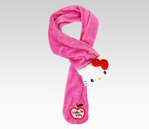 Hello Kitty Kids Plush Scarf: Pink - Hello Scarf Kitty