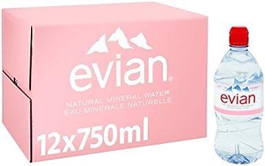 Evian agua mineral sin gas 12 x 750ml: Amazon.es: Alimentación y bebidas