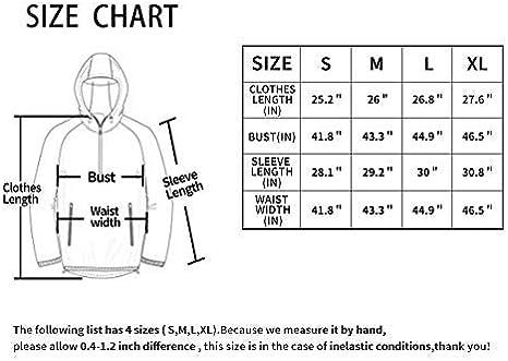 protection UV pour ext/érieur Dooy Veste de course /à pied coupe-vent coupe-vent imperm/éable /à capuche ultra l/éger et pliable