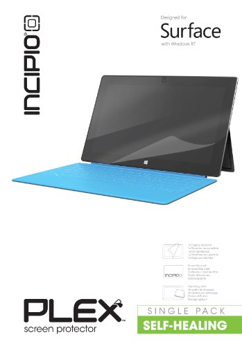 Self-Healing Screen Protector Designed for Microsoft Surface with Windows RT () - Incipio CL-482