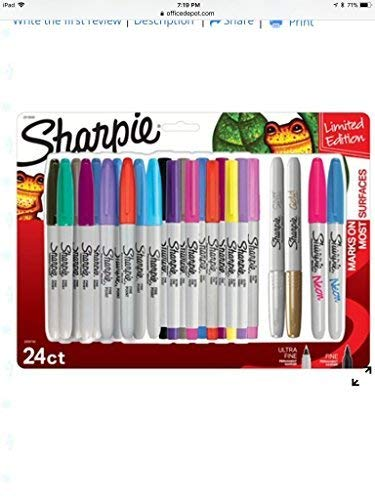 Sharpie Permanent Marker, Multi Color (Set of 24) by Sharpie