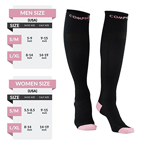 Compression Socks for Men & Women, Best Pair of Graduated Fit for Runners, Nurses, Flight, Travel, & Pregnancy. Increase Circulation, Boost Stamina, & Recovery. by Compsox (Image #3)