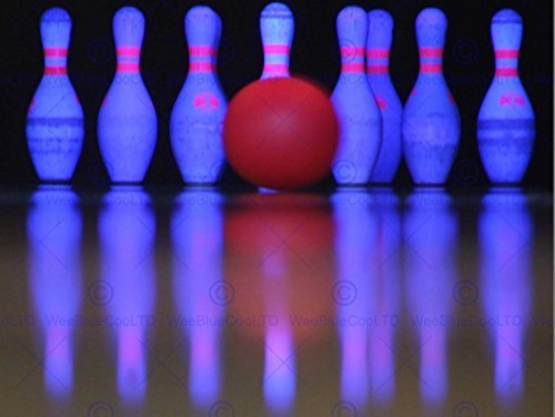 Photo Bowling Pin (SPORT PHOTO TEN PIN BOWLING NEON SKITTLES BALL ART PRINT POSTER MP4032B)