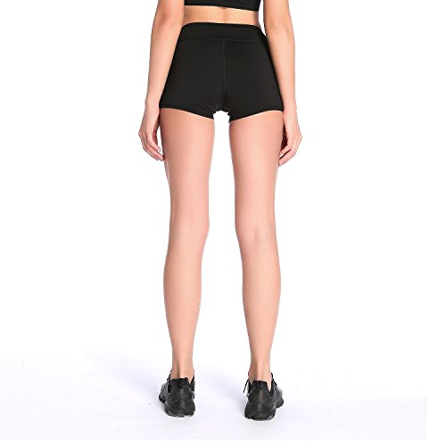 Womens Yoga Shorts High Waist Dry Fit Running Workout