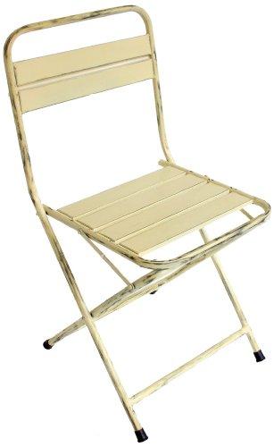 NACH th-4471-C Cream Vintage Folding Chair by NACH