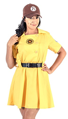 [Racine Belles AAGPBL Baseball Womens Costume Dress] (Plus Size Baseball Girl Costume)
