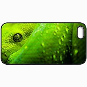 Customized Cellphone Case Back Cover For iPhone 5 5S, Protective Hardshell Case Personalized Great Snake Eyes Birds Black