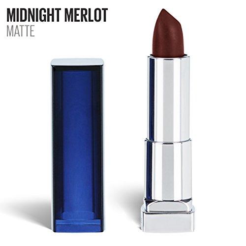 Maybelline New York Color Sensational Red Lipstick Matte Lipstick, Midnight Merlot, 0.15 oz (Best Eyeshadow With Red Lipstick)