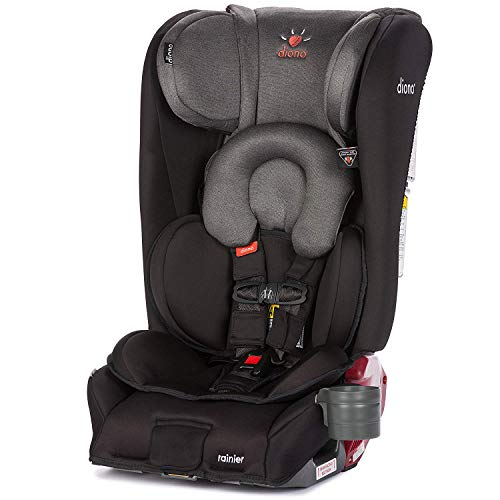 (Diono Rainier All-in-One Convertible Car Seat, For Children from Birth to 120 Pounds, Black Mist)