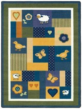 Joy Carpets Kid Essentials Infants & Toddlers Baby Love Rug, Bold, 7'8'' x 10'9''