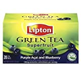 Lipton Green Tea Superfruit, Purple Acai and Blueberry. Pack of 3 boxes.