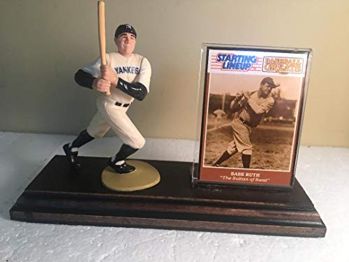 Babe Ruth New York Yankees White Uniform Starting Lineup Figure Mounted Custom Made Wood Plaque ()