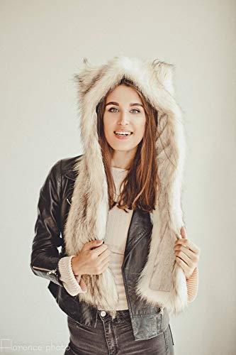 382d560c4859d Amazon.com  Woman s Real Coyote Hat Fancy Winter Hat Russian Ushanka ...