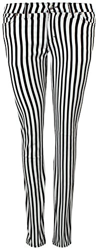 Run & Fly Unisex Jeans, schwarzweiß gestreift